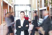 Businesswoman Standing In Bust...