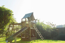 Play Structure In Backyard