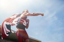 Track And Field Athlete Cheeri...