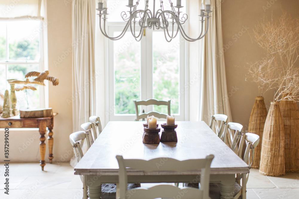 Fototapeta Dining table in rustic house