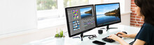 Video Editor Using Software Fo...