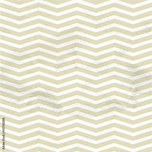 Obraz Seamless vintage beige pattern of thin zigzag (chevron) on grange paper - fototapety do salonu