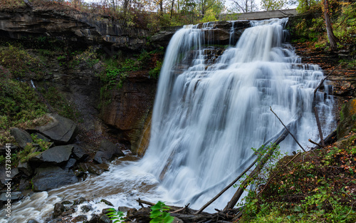 Brandywine Falls after rain storm in Cuyahoga Valley National Park, Ohio