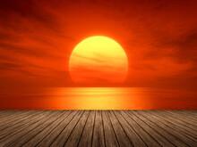 Light Sunset Orange Sun Calm O...