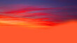 canvas print picture - dark red sunset sky gorgeous panorama natural sunset bright dramatic sky