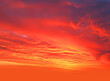 canvas print picture - sunset orange sky gorgeous panorama natural sunset bright dramatic sky