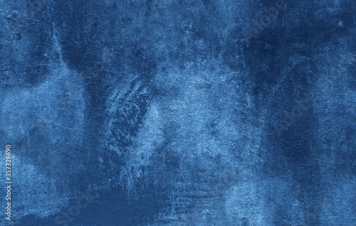 Fototapeta Beautiful Abstract Grunge Decorative Navy Blue Dark Stucco Wall Background. Art Rough Stylized Texture Banner With Space For Text obraz