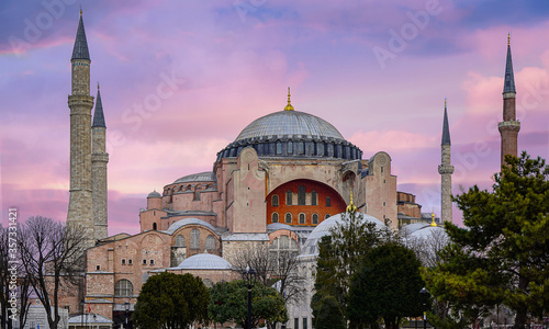 Photo hagia sophia in istanbul turkey