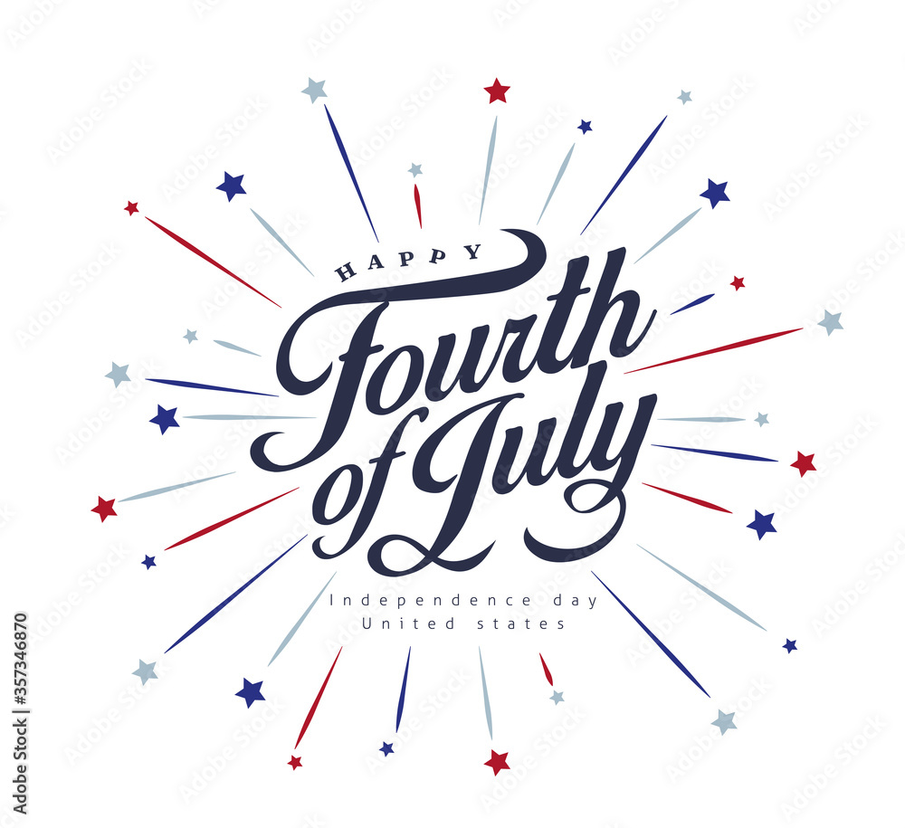 Fototapeta Independence day USA banner template .4th of July celebration poster template.fourth of july vector illustration .