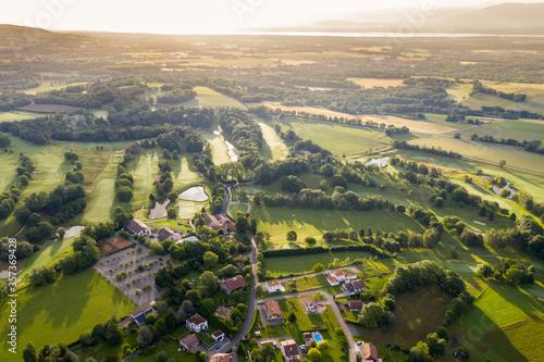 Fotografie, Tablou Aerial View Pays de Gex - Geneva aera