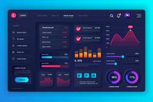Neumorphic Dashboard UI Kit. A...