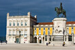 Statue in the centre of the Praça do Comercio in Lisbon, Portugal