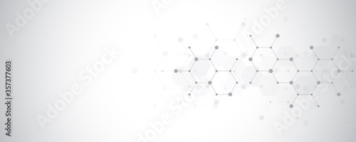 Carta da parati Abstract molecules background