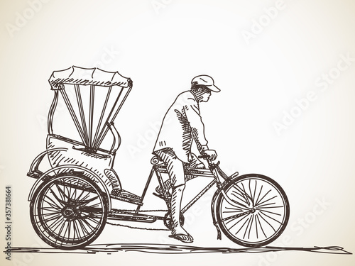 Fototapeta cycle rickshaw