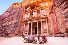Petra, Jordan. Al-Khazneh (The...