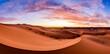 Leinwandbild Motiv Dramtic and colorful sunrise at the Sahara desert: Earth's Largest Hot Desert