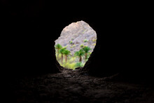 Natural Cave Made By The Erosi...
