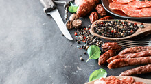 Various Sausages With Spices O...