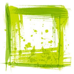 Vector frame texture strokes and splashes of paint