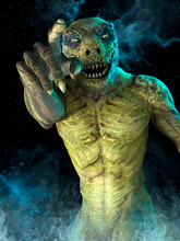 Reptilian Monster Pointing Wit...