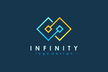 Infinity Logo. Blue And Yellow...