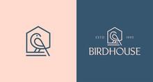 Birdhouse Logo Vector