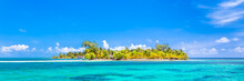 Belize, A Tropical Paradise In Central America. Web Banner Panoramic View.