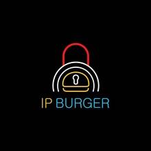 Cool And Modern IP Burger Logo