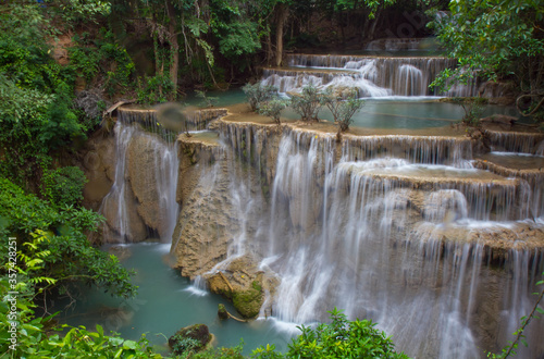 Fototapety, obrazy: Huay Mae Kamin Waterfall in Thailand