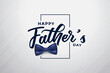 modern happy fathers day attractive background design