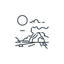 Cave Vector Icon. Cave Editabl...