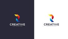 Letter R Logo Design. Colorful...