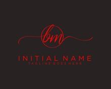 Initial B M Handwriting Logo V...