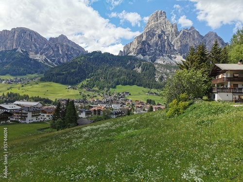 House in Corvara in Badia in Italian South Tyrol with guest rooms for tourists. #357446014
