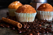 Muffins With Coffee Beans And ...