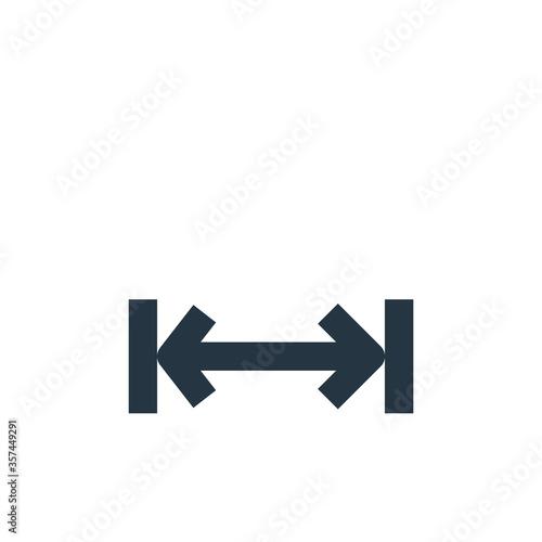 Fényképezés width vector icon