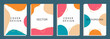 Social media banners with geometric artistic abstract, Vector illustration.