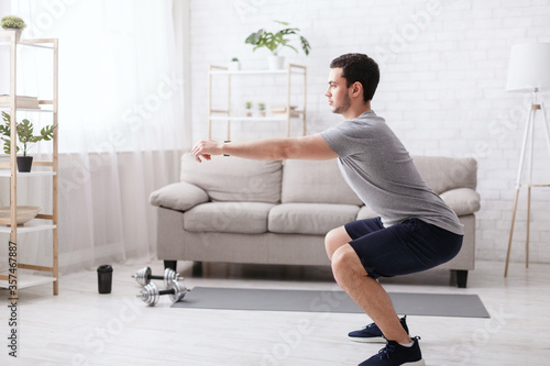 Fotografie, Tablou Stay home alone to workout