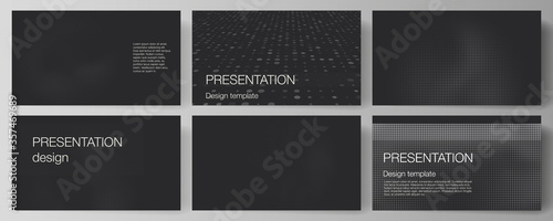 Vector layout of presentation slides design business templates, multipurpose template for presentation brochure, brochure cover Fototapeta