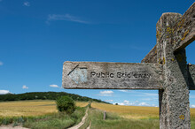Public Bridleway, Wooden Sign.