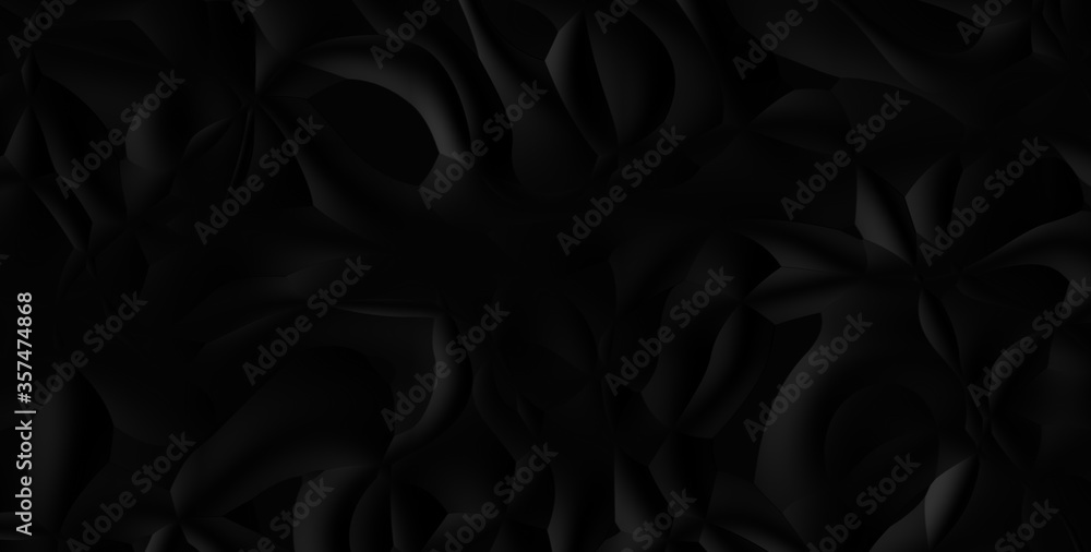 Fototapeta Abstract black hi-tech polygonal corporate background