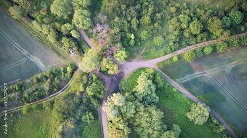Valokuvatapetti Harzvorland. Vogelperspektive.