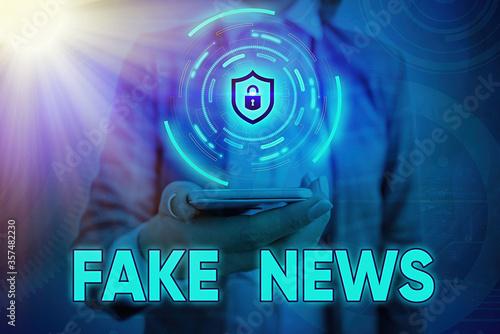 Text sign showing Fake News Fototapeta