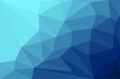 Blue low poly background with details