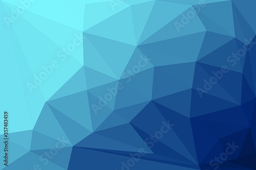Blue low poly background with details Fototapet