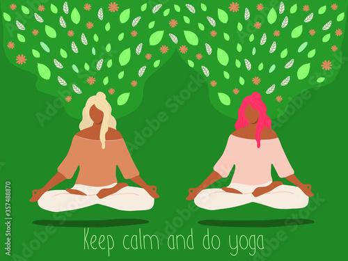 Fotografie, Obraz Stay calm and do yoga