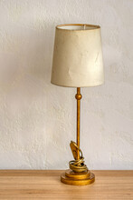 Vintage Lamp On The Table