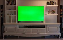 Big Green Screen Led TV In A C...