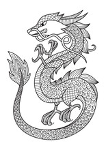 Chinese Dragon Doodle Coloring...