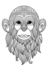 Monkey Doodle Coloring Book Pa...